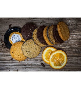Sablés Orange-Coco, Citron-Pavot et Choco 220g