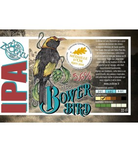 Bière The Bower Bird IPA 33cl